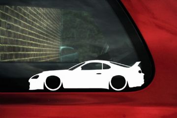 2x Low car outline stickers Toyota Supra Mk4 Twin Turbo RZ JDM